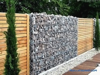 Fence of gabions do it yourself