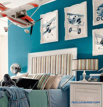 Children's room design for a boy