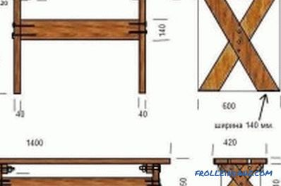 Do-it-yourself board table - preparatory work, drawings (photo and video)