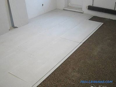 Dry do it yourself floor screed method