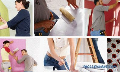 How to glue wallpaper on wallpaper