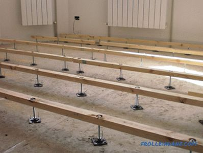 Installation of adjustable floors - a sequence of actions (video)
