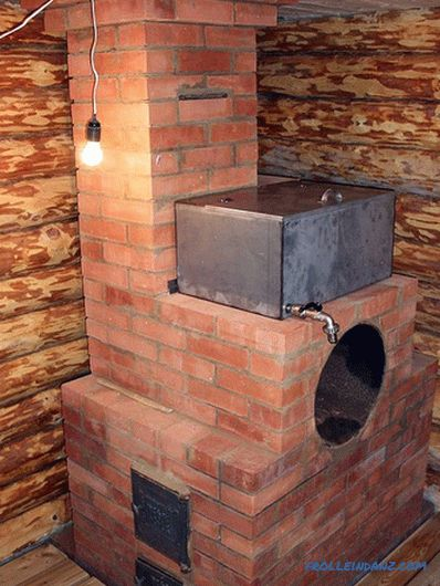 Brick stove for a bath with his own hands