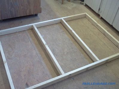 How to make a bed podium do it yourself step by step + Photo