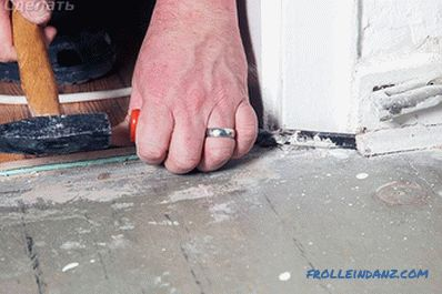 How to remove the plinth from the floor