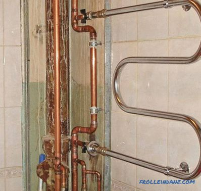 How to install a heated towel rail in the bathroom