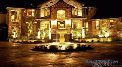 How to make lighting the facade of the house