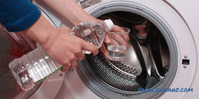 How to clean the washing machine machine from limescale citric acid, vinegar and other means + Video
