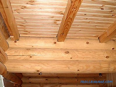 Repair the ceiling in a wooden house with their own hands (photo and video)