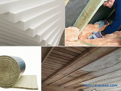 How to insulate the ceiling in the garage