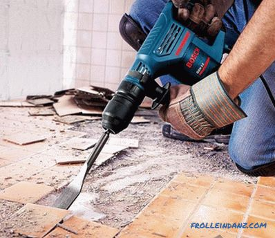 How to remove the old floor - dismantling the floor