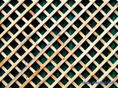 Making wooden lattices do it yourself: options