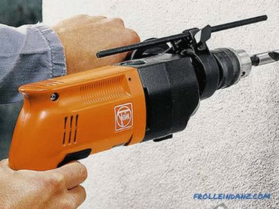 How to drill a concrete wall with a perforator, drill