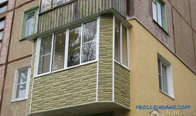 Repair the balcony with their own hands - in the panel house, in the Khrushchev + photo