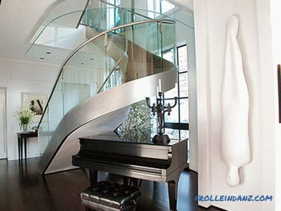Glass in the interior - 50 ideas of using decorative, frosted and colored glass