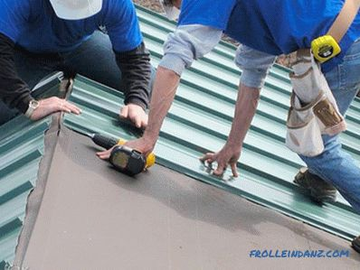 How to roof a professional flooring with your own hands