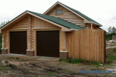 Wooden garage do it yourself: recommendations