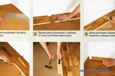 Instructions for laying floorboard: tools, materials, technology