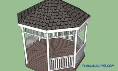Octagonal gazebo do-it-yourself, drawing, photo and video instructions