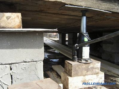 Repair of the foundation of a wooden house - replacement of the foundation