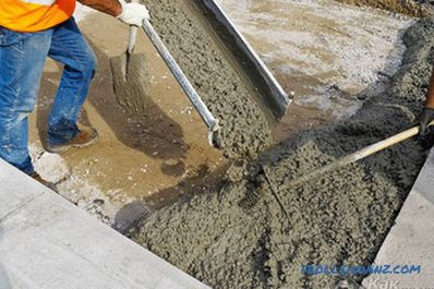 How to make concrete - concrete with their own hands