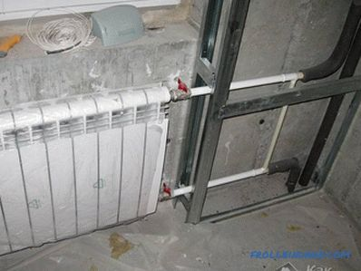How to hide heating pipes - masking heating pipes (+ photos)