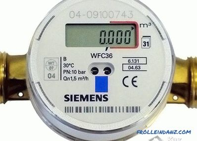 How to choose a water meter for an apartment (water meter)