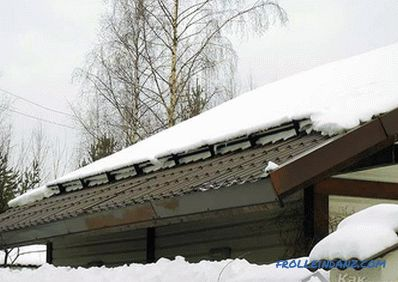 How to install snow protectors - installation of snow protectors on the roof