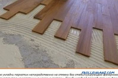 How to put parquet (photo and video)