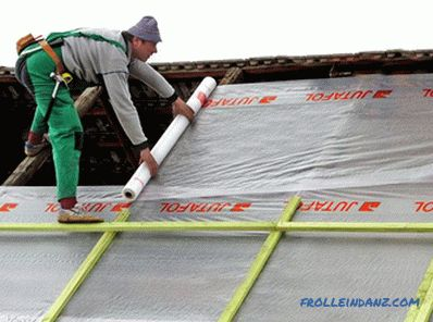 How to lay a vapor barrier on the floor, walls, ceiling + photos, schemes