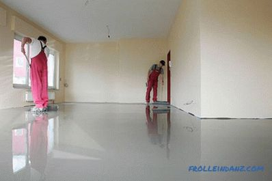 How to choose a self-leveling floor - types of self-leveling floors