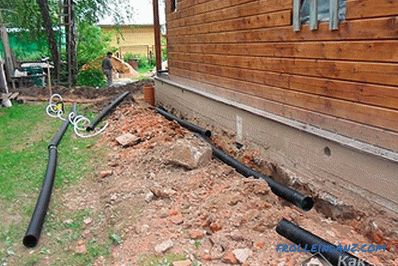 Drainage of the foundation with their own hands - how to protect the foundation by using drainage