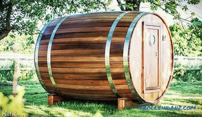 Bath barrel with your own hands - how to make + drawings, diagrams, photos