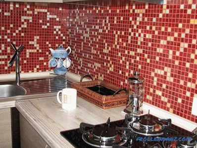DIY mosaic laying - how to glue (+ photos)
