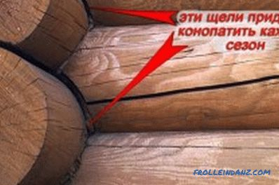 How to caulk a house from a log: features (video)