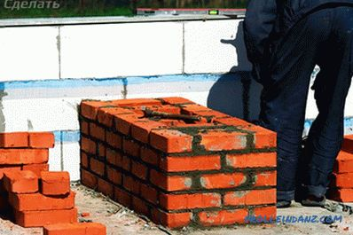 Brick chimney with their own hands