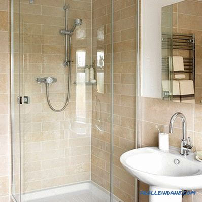 Design of a small bathroom - recommendations and ideas with photos