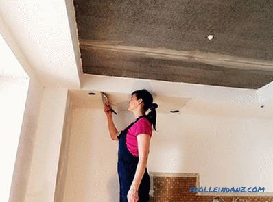 Align the ceiling with your own hands - align the surface of the ceiling (+ photos)