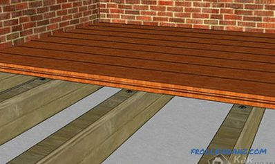 How to make a wooden floor in the garage with their own hands