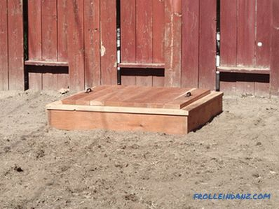 How to make a sandbox for children in the country or at home + Photo