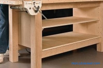 Do-it-yourself workbench: stages of work