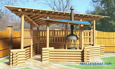Do-it-yourself gazebo installation: arrangement and installation
