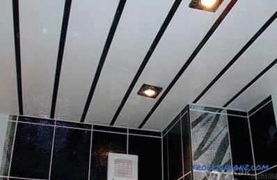 How to make a suspended ceiling in the bathroom