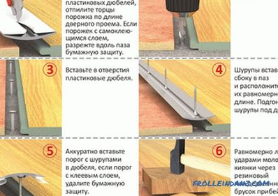 The joint between parquet and tile: some features