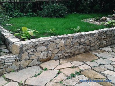 Do-it-yourself retaining wall - features and installation (+ photos)