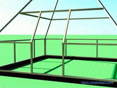 Greenhouse pyramid with his own hands - from polycarbonate