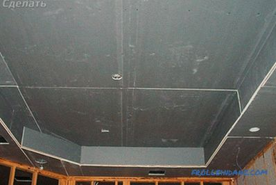 Two-level ceiling with drywall do-it-yourself + photo
