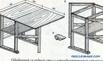 Folding table for the kitchen do it yourself: instruction