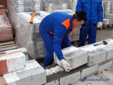 How to lay gas silicate blocks - gas silicate masonry