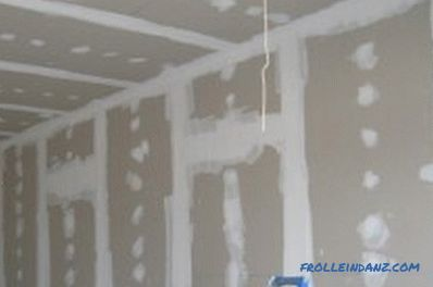 Drywall in a wooden house: the nuances of finishing